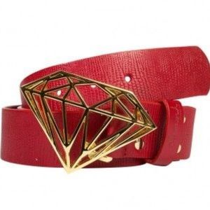 Red Limited Edition Diamond Supply Co Belt